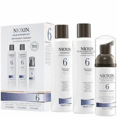 Nioxin System 6 3 Part System Thinning Medium Coarse Kit