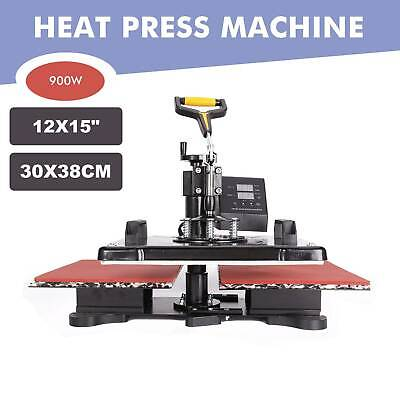 "5 in 1 12"" X 15"" T Shirt Heat Press Machine for Mug Hat Plate Cap Mouse Pad."