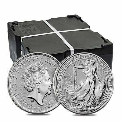 2018 1oz Silver Britannia (Oriental Border) Coin $2 Two Pounds Great Britain