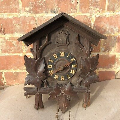 Antique wooden Black Forest cuckoo clock