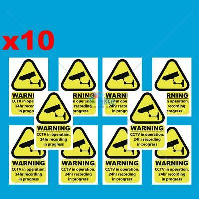 10x CCTV in operation window stickers/signs decal 100mmx150mm Free 1st Class P&P