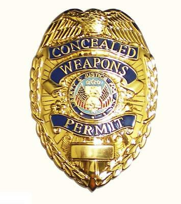 Quality GOLD BADGE METAL CONCEALED CARRY PERMIT CCW