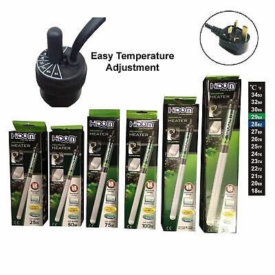 Hidom Submersible Tropical Fish Tank Aquarium Thermostat Heater & Thermometer