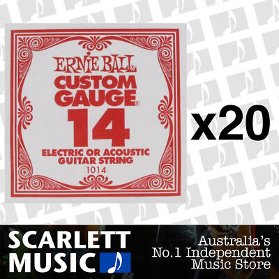 20x Ernie Ball Plain Single Guitar String .014 ( 14 / Fourteen ) * 20 PACKS *