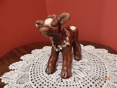 1940's 1950's  Lichten Ware Pottery Figurine ~ COW OR CALF - Signed