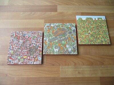Where's Wally ? Canvas Wall Art Plaques/pictures Set- Free Postage