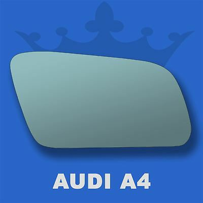 For Audi A3 96-00 Left passenger side Electric wing door mirror glass with plate