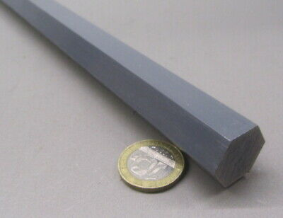 "PVC Hex Rod Grey, Type I, 3/4"" (.750"") x 60"" Length, 1 Pcs"