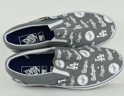 LA Dodgers VANS Slip-On Shoes Baseball MLB Los Angeles Grey Men s Size 10 c4b1aa17b
