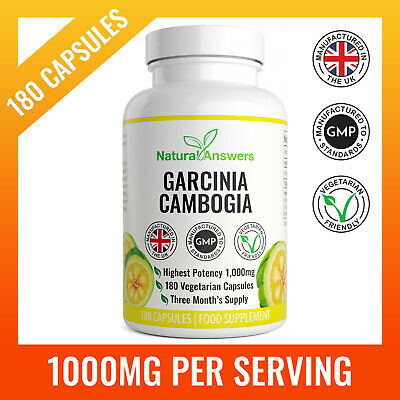 Max Strength Fat Burner Garcinia Cambogia X180 Appetite Suppressant Weight Loss