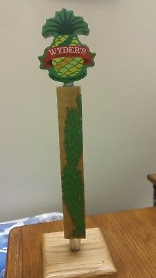 "WYDERS HARD CIDER PRICKLY PINEAPPLE TALL 13-1/2"" Pub Beer Tap Handle"