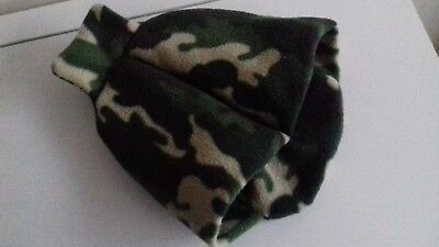 Green Camouflage Fleece Feet Pouch Slippers Cover Only for Hot Water Bottle 2L
