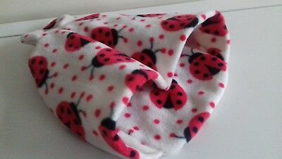 Ladybirds Fleece Warmer Feet Pouch Slippers Cover Only for Hot Water Bottle 2L