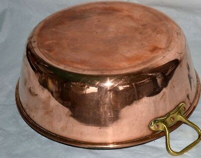 French vintage mauviel professional chefs copper jam preserve pan