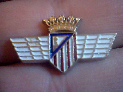 insignia Atletico Madrid Aviacion corona alas imperdible ol badge football spain