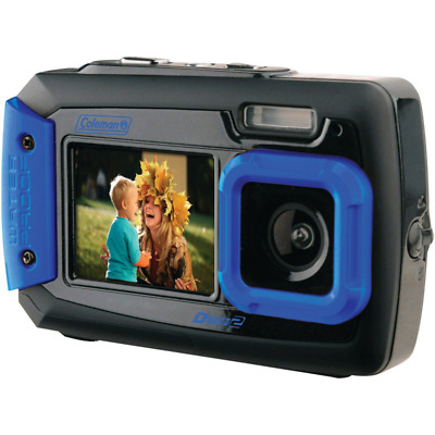 Coleman Duo2 2V9WP-BL 20 MP Waterproof Digital Camera with Dual LCD Screen (Blue