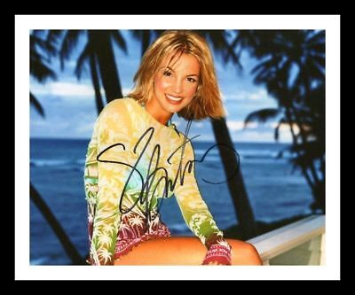 Britney Spears Autographed Signed & Framed Pp Poster Photo 8
