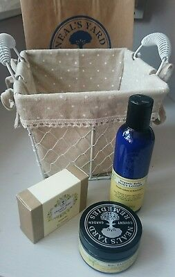 Neal's Yard Remedies Organic Baby Gift Set. Barrier cream lotion soap + basket