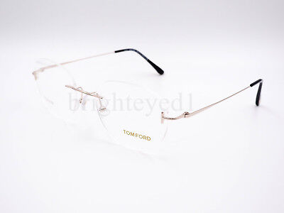 Authentic TOM FORD Titanium Gold Rimless Rx Eyeglasses FT5394 - 028 *NEW*  51mm
