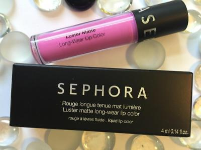 SEPHORA Luster Matte Long-Wear Lip Color LILAC LUSTER .14oz/4g Full Sz NEW w Box
