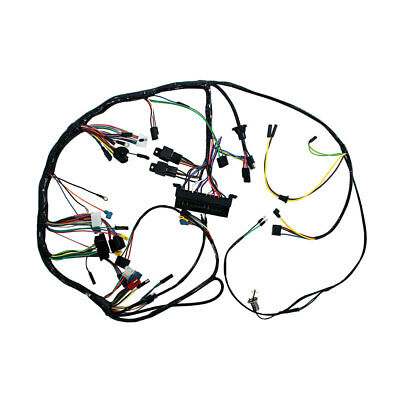 Mustang Under Dash Wiring Harness With Premium Fuse Box/Relays 1967 With Tachome