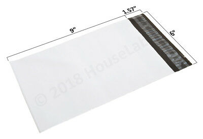 1-2000 6x9 Poly Mailers Bags  2.35 mil thick White Shipping Envelopes