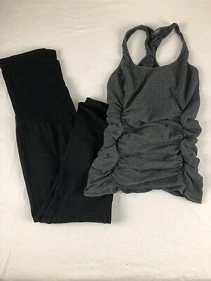 Lot Of 2 Pea in a Pod Ruched and Black Leggings Small/XS