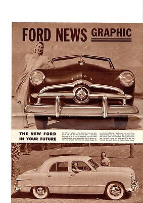 1949 FORD Brochure: CUSTOM,TUDOR,COUPE,CONVERTIBLE,STATION WAGON,SEDAN,