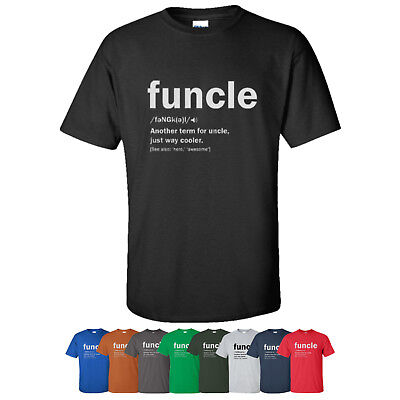 062fd81d5 Funny Uncle Funcle Definition T-Shirt Novelty Gift Holiday Graphic Tee Shirt