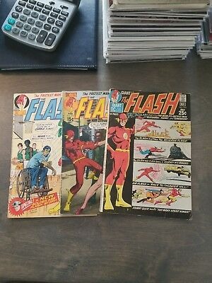 Flash 3 Issue Silver Age Comic Run Lot #201,203,205 64 Pg Giant  Dc