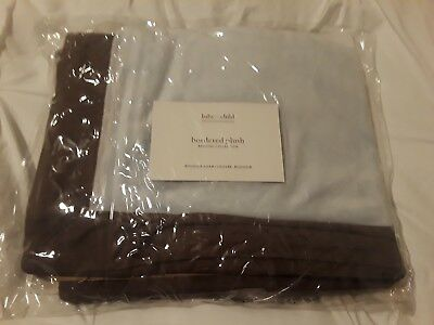 Restoration Hardware baby BORDERED PLUSH small pillow sham *new*