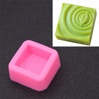 Square Leaf Silicone Molds Craft DIY Handmade Soap Candy Making Mold Mould