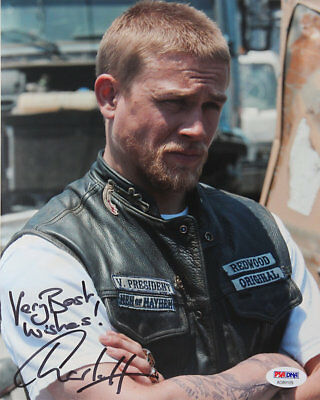 Charlie Hunnam Sons of Anarchy  Hand Signed 8X10 Photo PSA/DNA