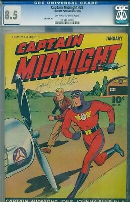 Captain Midnight #36 CGC 8.5 Fawcett Publications January 1946 Len Frank Artwork