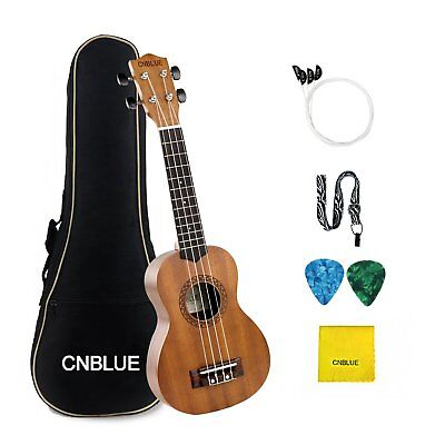 Mahogany Ukulele Four Aqulia Strings Hawaiian 26 Inch Tenor Ukulele Starter Kit