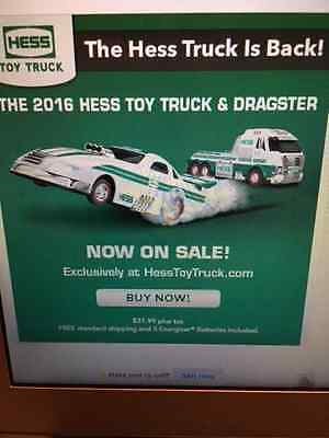 2016 Hess Toy Truck And Dragster New In Box In Stock Today Ready To Ship Nice
