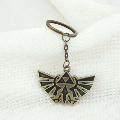 Legend of Zelda Triforce Keychain Zelda Logo Key Chain / Keychain Bronze x1Pcs