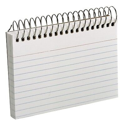 Oxford - Spiral Index School Study Note Cards, 3 x 5, 50 Cards - White FREE SHIP