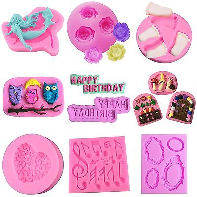 3D Silicone Cake Fondant Mold Chocolate Pastry Baking Mould  Sugarcraft  .