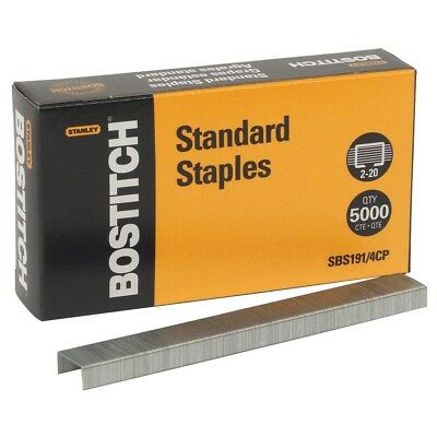 Stanley Bostitch Standard Staples Pack Of 5000 Model SBS191/4CP - Free Shipping