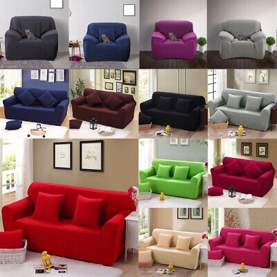 Removable Stretch Elastic Lounge Couch Sofa Slip Covers Fit For 1 2 3 Seater