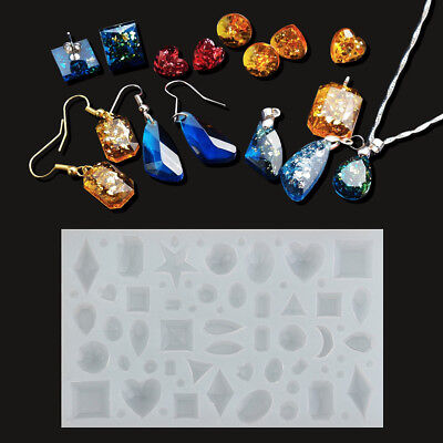 Silicone Pendant Mold Making Jewelry Resin Necklace Mould DIY Craft Tool UK