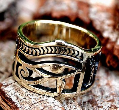 Egyptian Eye Of Horus Ankh Ring Made with Brass Jewelry size 8-12