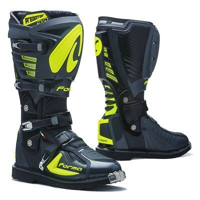 Forma Predator 2.0 motocross boots, mens, grey, neon, all sizes, pro, motorcycle