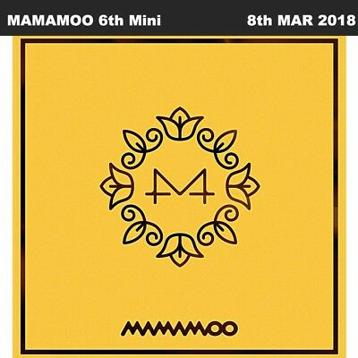 MAMAMOO Yellow Flower 6th Mini Album CD+Booklet+Photocard+Poster KPOP Sealed