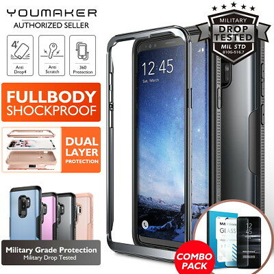 YOUMAKER® Samsung Galaxy S9 S9 Plus HEAVY DUTY Shockproof Protective Case Cover
