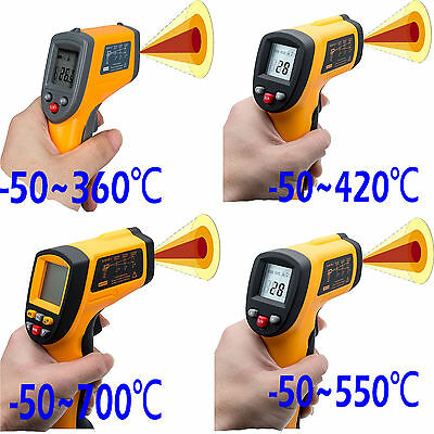 Handheld LCD Digital Laser Thermometer Temperature Infrared Non-Contact IR Gun