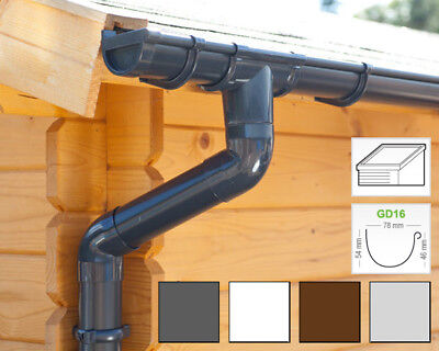 Plastic guttering kit for shed roof (1 roofside) | GD16 | in 4 colours!