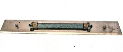 LARGE - Vintage Marine ADMIRALTY Brass Ebony Chart Map ROLLER Rule (1184)