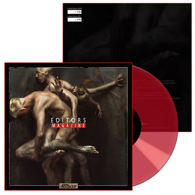 "EDITORS ""Magazine"" 7""-Vinyl in RED - 249 Ex. + Sonic Seducer 03/2018"